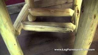Cedar Lake Rustic Comfort Upholstered Log Dining Chair