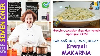Kremalı Makarna Tarifi - Semen Öner - Yemek Tarifleri