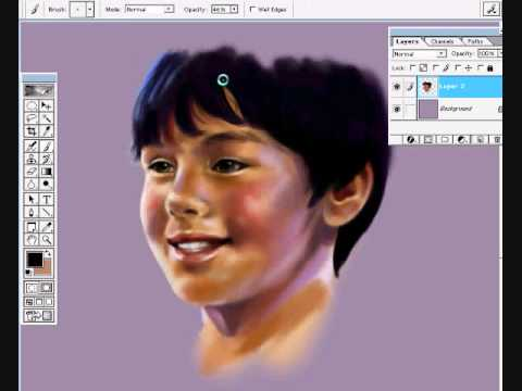 Libera digital painting joshua madine youtube Digital art painting software