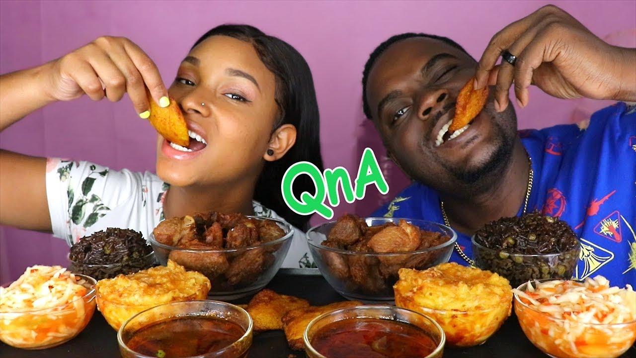 HAITIAN FOOD MUKBANG ( Haitian Rice, Griot, Fried ...