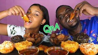 HAITIAN FOOD MUKBANG ( Haitian Rice, Griot, Fried Plantains & Pikliz) + QnA ft. BEAST MODE 먹방