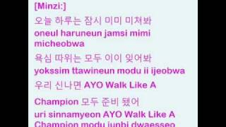 2NE1 - Clap your hands (with lyrics on screen) (2)