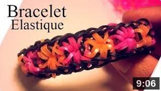 Comment faire des bracelets avec des élastiques (avec fleur).