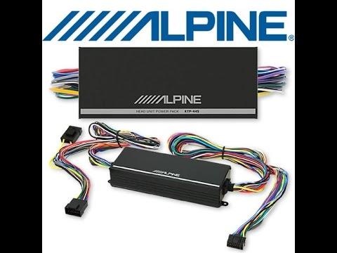 KTP-445 Amp - Alpine Head Unit Power