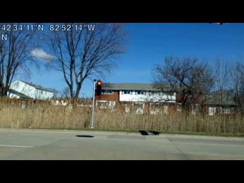 Driving from Clinton Township, Michigan to Shelby Township, Michigan