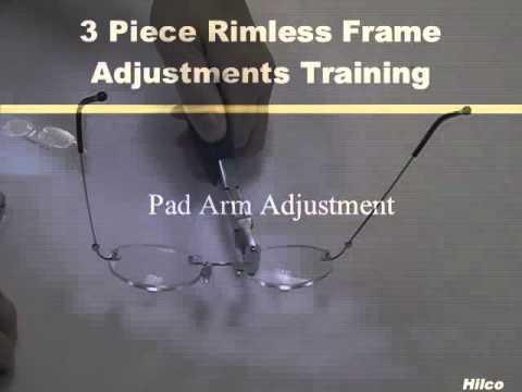 8783cad474 Hilco 3-Piece Rimless Eyewear Frame Adjustments - YouTube