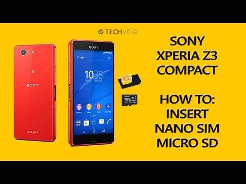 Sony Xperia Z3 Compact How to: Insert Nano SIM microSD card