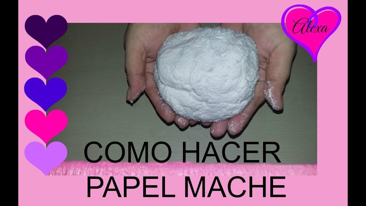 C mo hacer papel mache utilizando papel higi nico tutorial - Como se hace manualidades ...