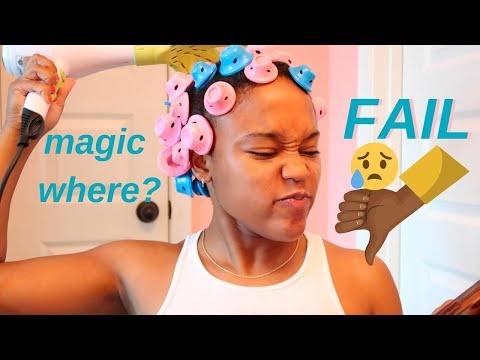 MAGIC HAIR ROLLERS *FAIL* NATURAL HAIR