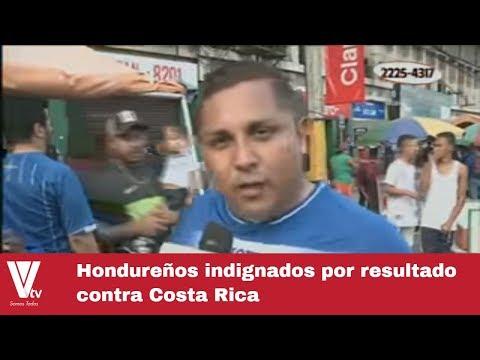 Hondureños molestos por resultado contra Costa Rica