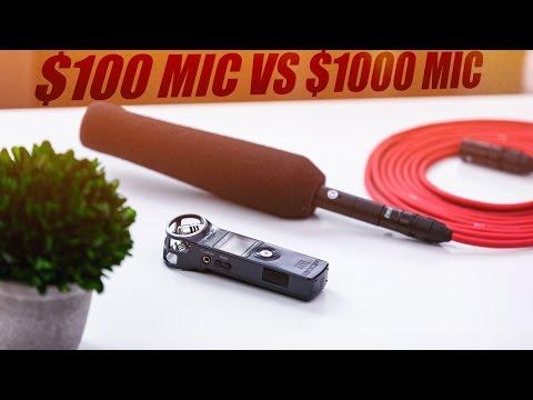 $100 Zoom H1 Mic VS $1000 Sennheiser MKH146 Mic