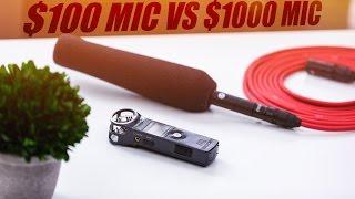 Zoom H1 ($100) VS Sennheiser MKH 416 ($1,000) Mic Test!