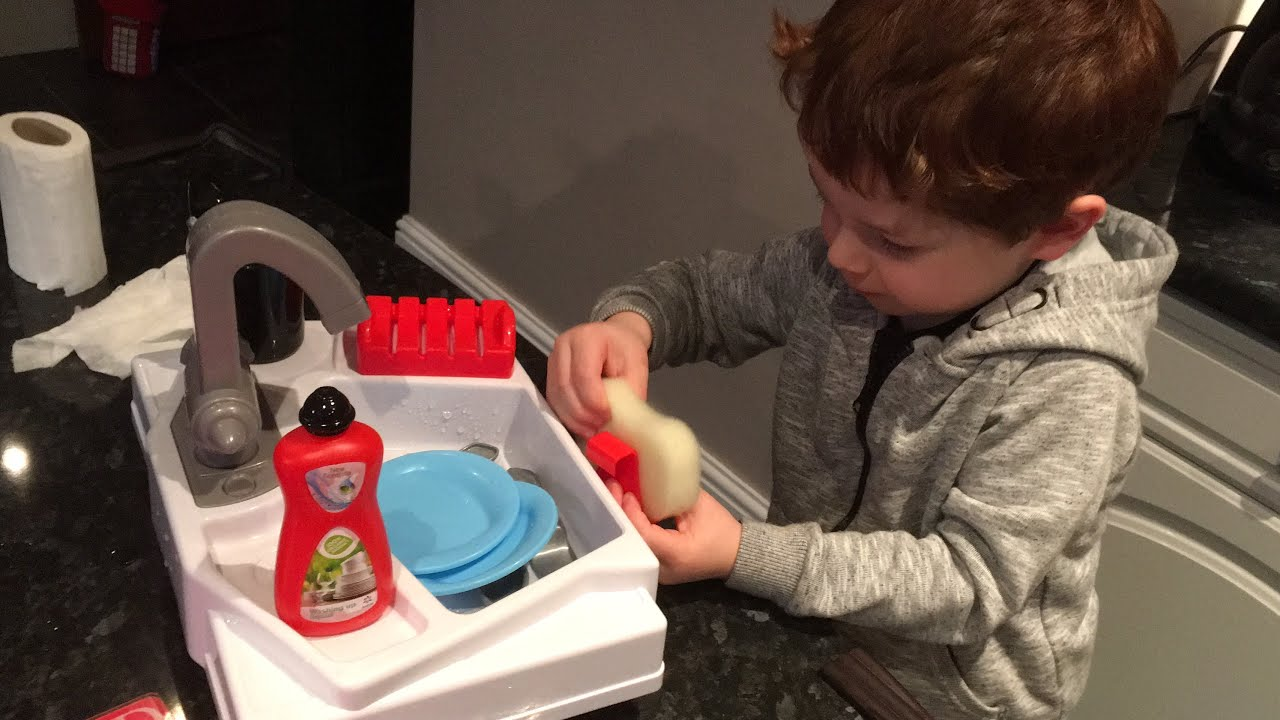Toddler cleaning| Let\'s Pretend Washing Up Sink | Chad Valley | Toy ...