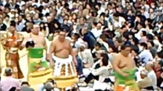 日馬富士 土俵入り(Harumafuji dohyōiri) 錦木(Nishikigi) 千代大龍(Chi...