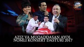 Aziz va Muqaddasan Ayol - 2017 yilgi konsert dasturi