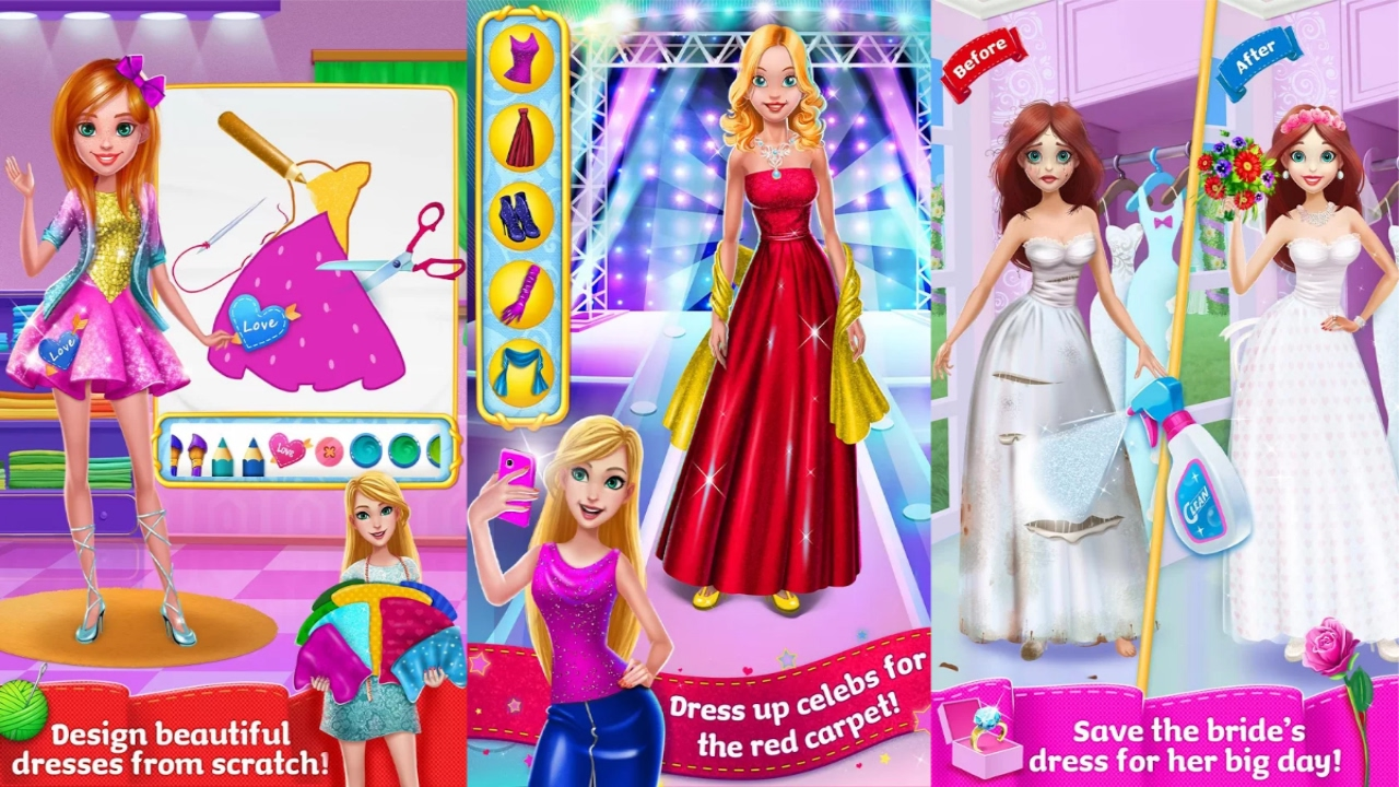 Design It Girl Fashion Salon Android Gameplay Youtube