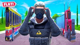 Fortnite But Everything Is FLAT!