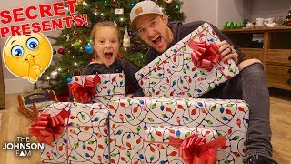 We found some secret surprise christmas gifts and open them early! subscribe to our channel! → http://bit.ly/johnsonfam •••••••••••••••••••••••••••••••••••••...