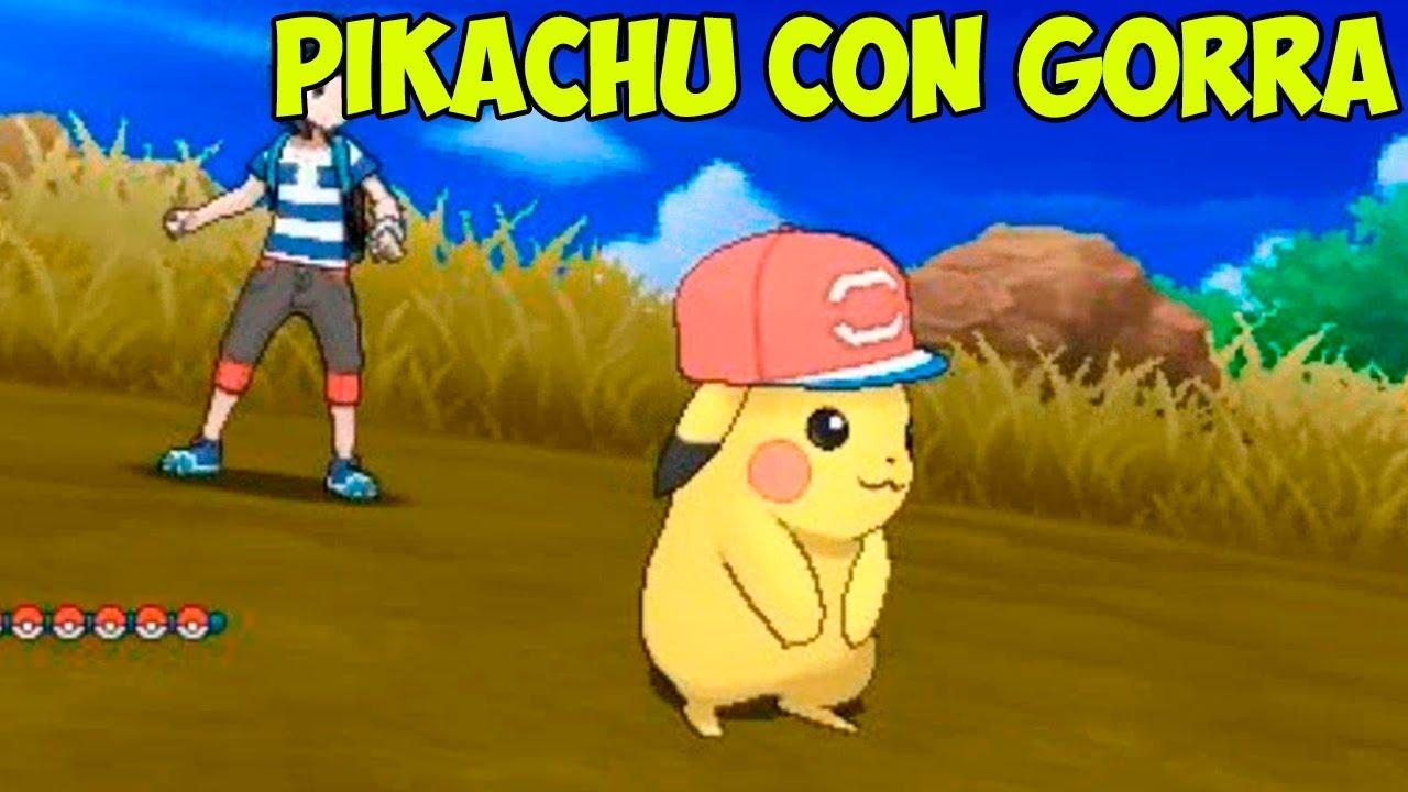 ca05c17e5 CONSEGUIR A PIKACHU CON GORRA DE ASH  - YouTube