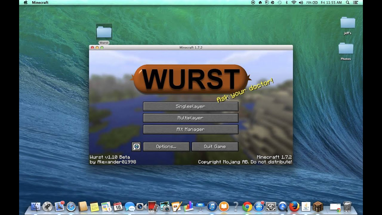 Wurst for Minecraft 1.11 - 1.11.2