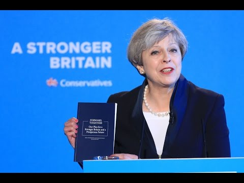 Theresa May launches the Conservative party's manifesto - watch live