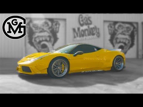 SEMA Custom Widebody Ferrari - 2011 Ferrari 458 Italia - Build Of The Week - Gas Monkey Garage