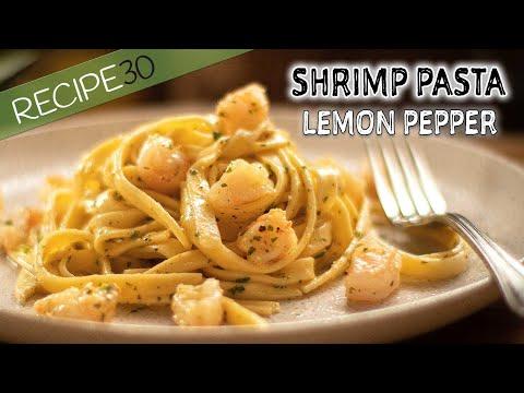Lemon Pepper Pasta Shrimp In Buttery Sauce