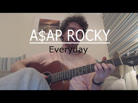 Everyday - ASAP Rocky feat. Rod Stewart, Miguel, Mark Ronson (Guitar Lesson/Guitar tutorial)