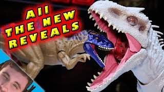 ALL BRAND NEW Jurassic World Mattel NY Toy Fair Reveals! [Casual SpinoDino]