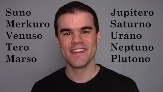 The Solar System in Esperanto (La Planedoj)