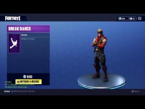 nouvelle danse break dance fortnite - danse break dance fortnite