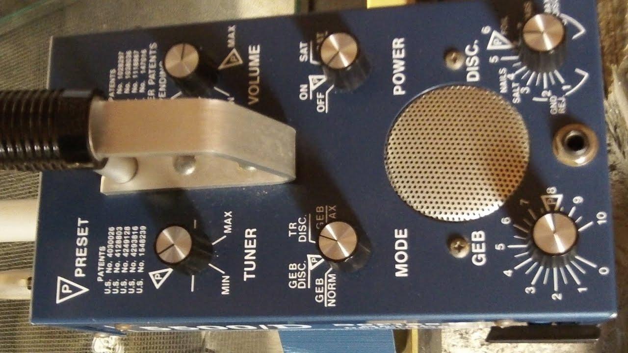 Whites Coinmaster 5500 D Series 3 Vs Monty Nail Board Test