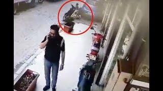TURGUTLU polisten kaçışı güvenlik kamerasına yansıdı.