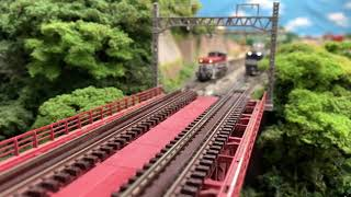 【Nゲージ】カンガルーライナーSS60、赤ホキと高山線の列車