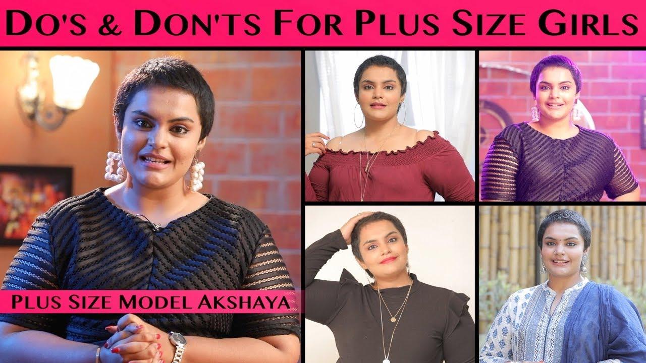 Dressing Tips For Plus Size Girls   Akshaya Corner   Aadhan Tamil