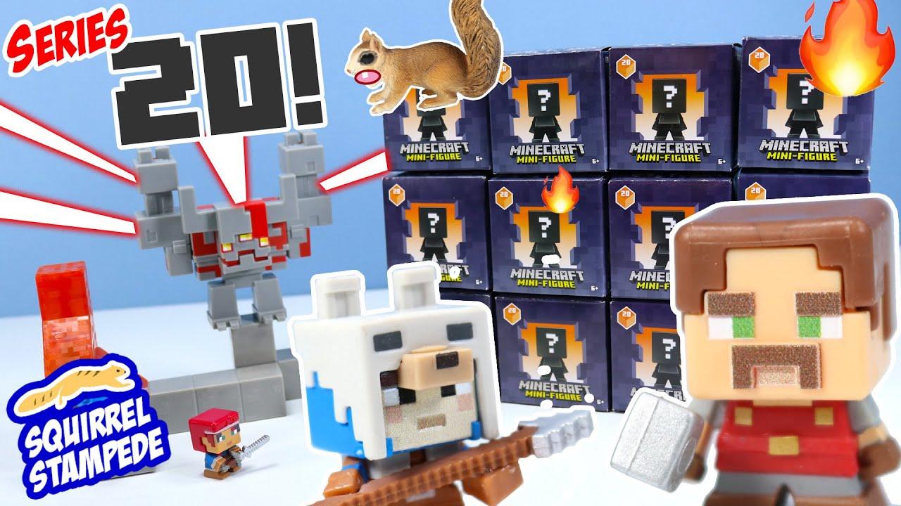 Minecraft Mini-Figure Dungeon Series 20 Unboxing Arch illager? Mattel