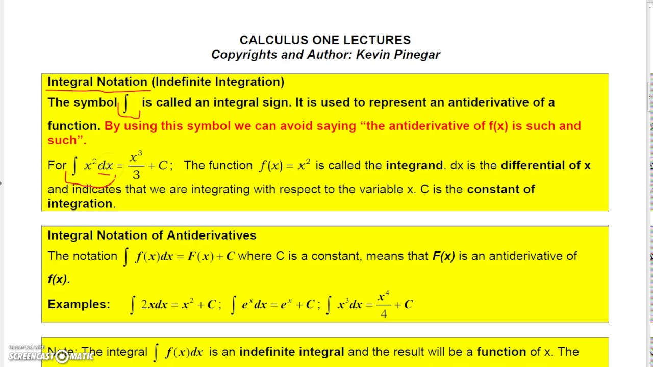 Calculus 1 lecture 4 1 1 antiderivatives youtube calculus 1 lecture 4 1 1 antiderivatives biocorpaavc Image collections