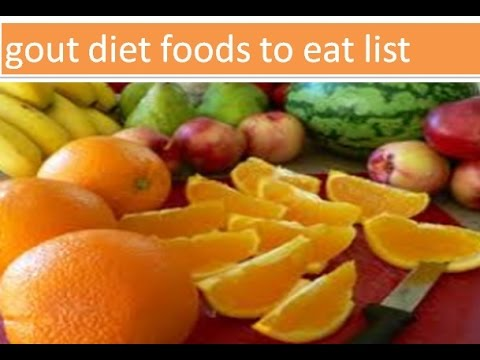 Good Gout Foods to Eat and Not to Eat