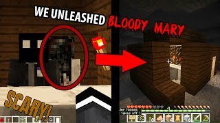 We SUMMONED Bloody Mary in Minecraft (Scary Minecraft Video)
