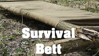 Survival Bett aus Poncho Plash Palatka