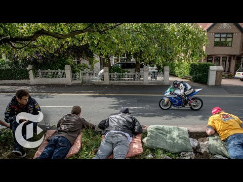 Two Rivals Compete In 'The Isle Of Man TT' Motorcycle Race | The New York Times