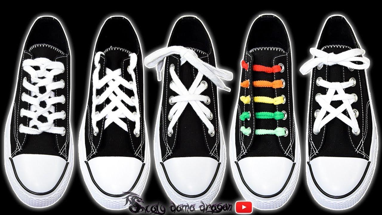montar También Borrar  5 Formas Divertidas de atar tus agujetas o cordones de los Zapatos - YouTube