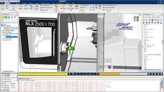 VERICUT CNC Simulation of a DMG Mori NLX 2500