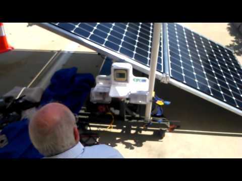 Mobile Solar all in one in action 1kw