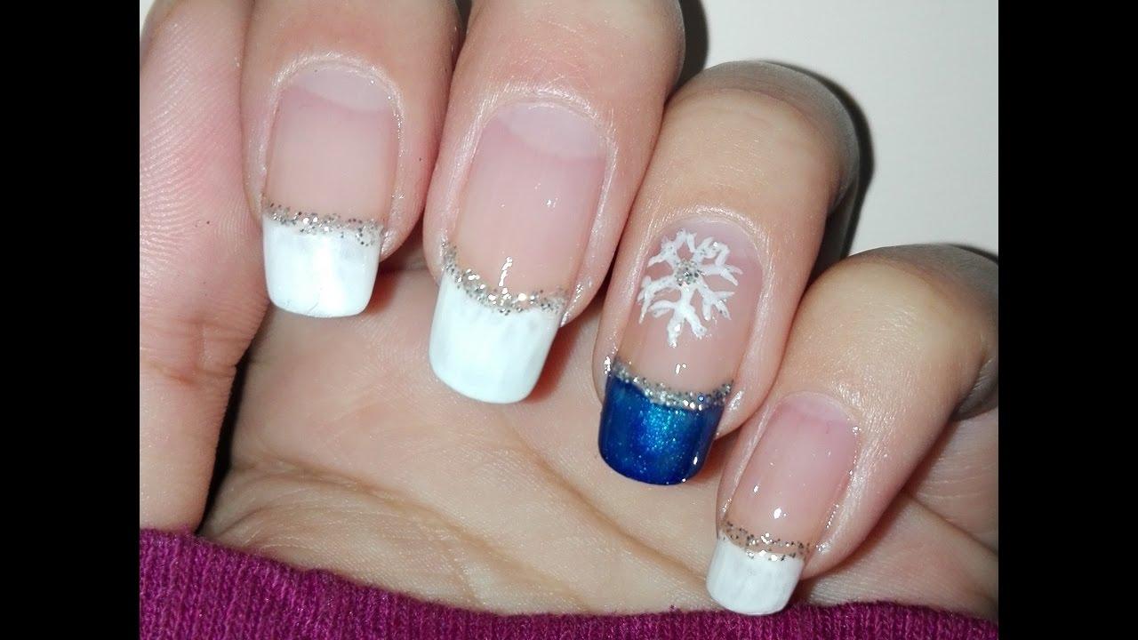 diy easy winter nail art tutorial