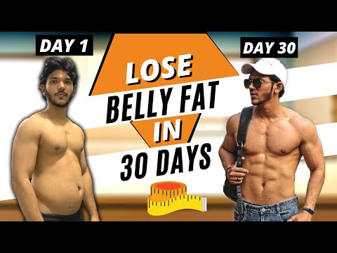 FASTEST WAY to LOSE BELLY FAT NATURALLY at Home [ IN HINDI ]  | Fit Bite 🇮🇳