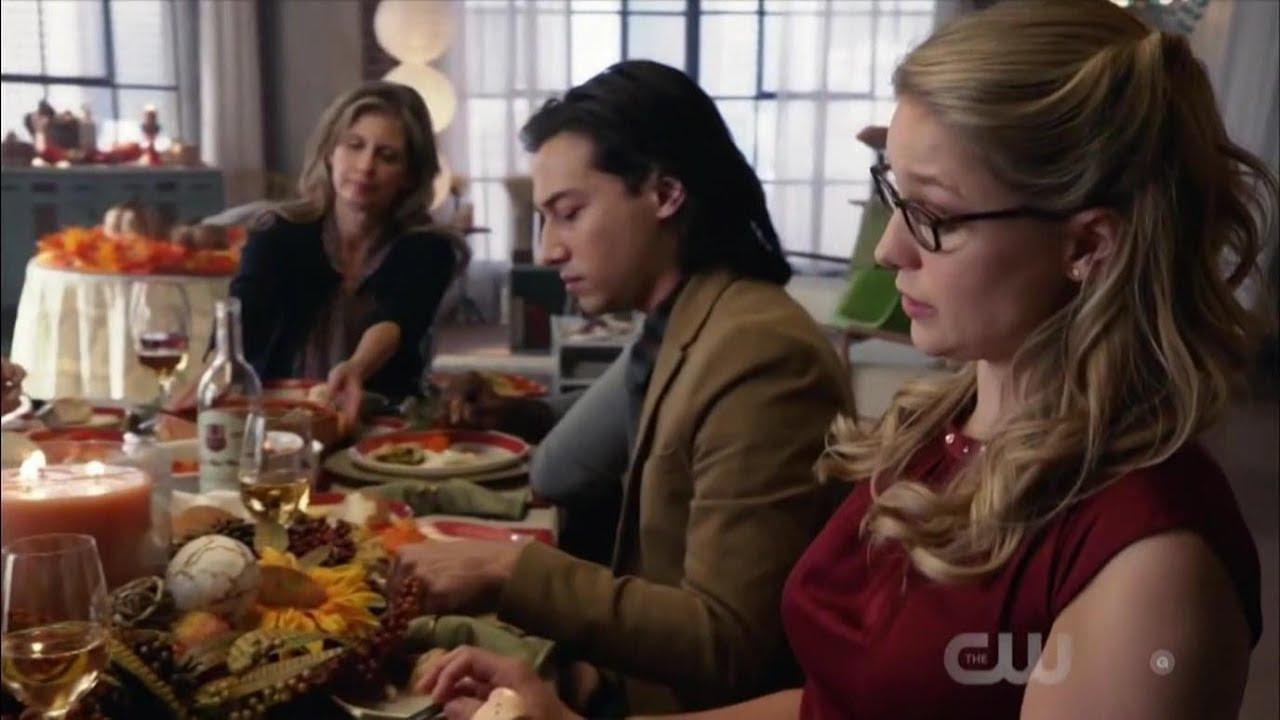 Supergirl 4x06 Thanksgiving Meal at Kara's house