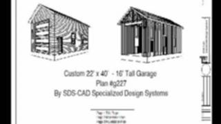 Custom 22x40 16' Garage Plan