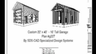 Custom 22x40 16' Garage Plan