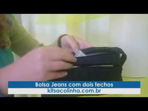 Bolsa Jeans Com Dois Fechos Kit Sacolinha Youtube
